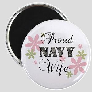 Navy Wife [fl camo] Magnet